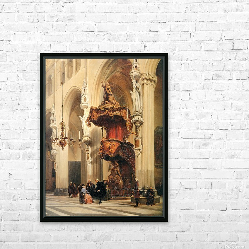 Interior of a church HD Sublimation Metal print with Decorating Float Frame (BOX)