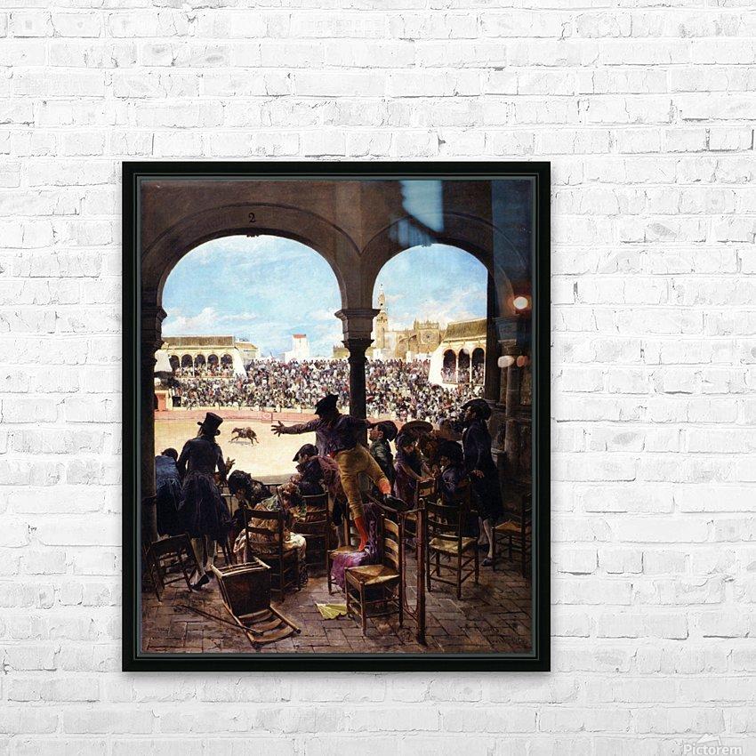 Un lance en la plaza de toros HD Sublimation Metal print with Decorating Float Frame (BOX)