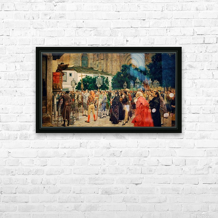 Holy Week in Seville HD Sublimation Metal print with Decorating Float Frame (BOX)