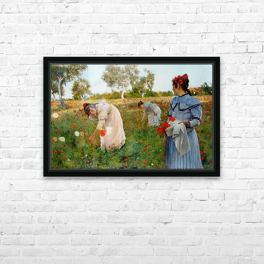 Three little Spanish ladies HD Sublimation Metal print with Decorating Float Frame (BOX)