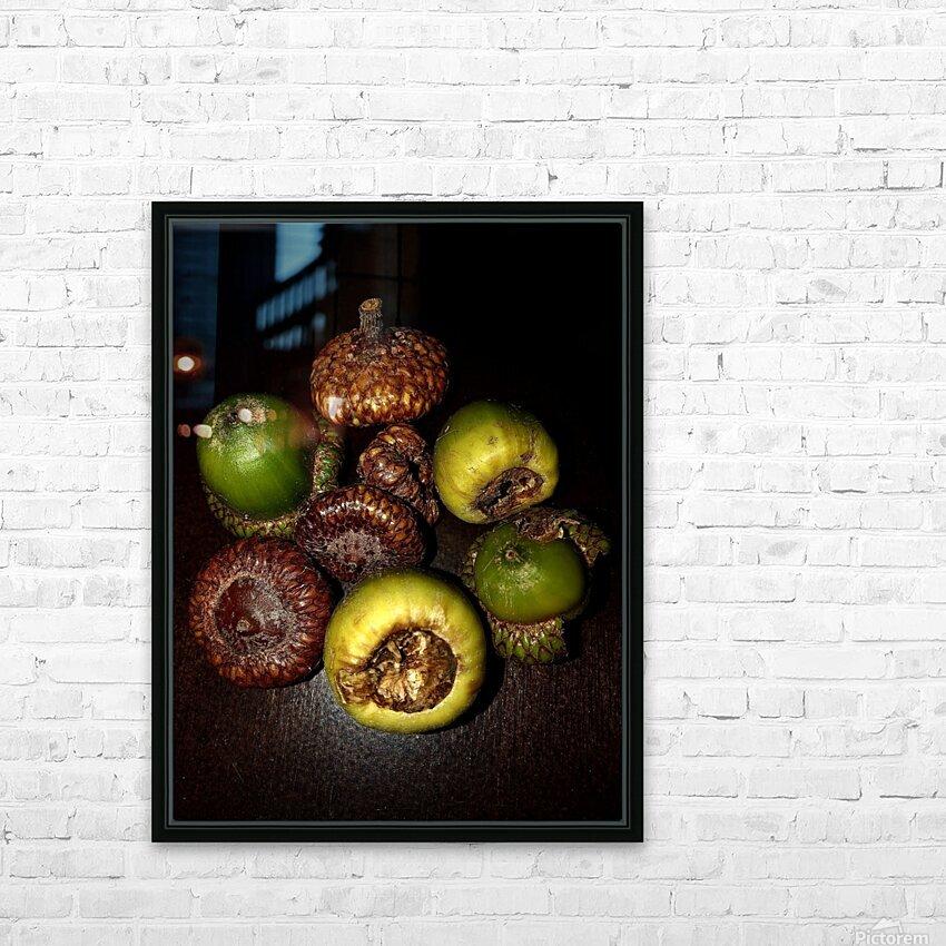 Acorn arrangement HD Sublimation Metal print with Decorating Float Frame (BOX)