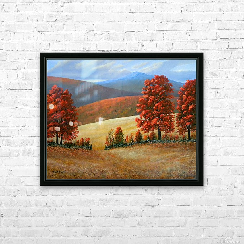 Autumns Glory HD Sublimation Metal print with Decorating Float Frame (BOX)