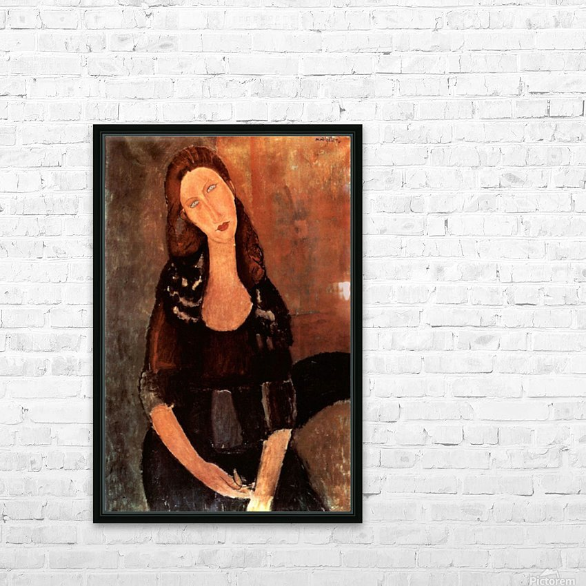 Modigliani - Portrait of Jeanne Hebuterne -3- HD Sublimation Metal print with Decorating Float Frame (BOX)