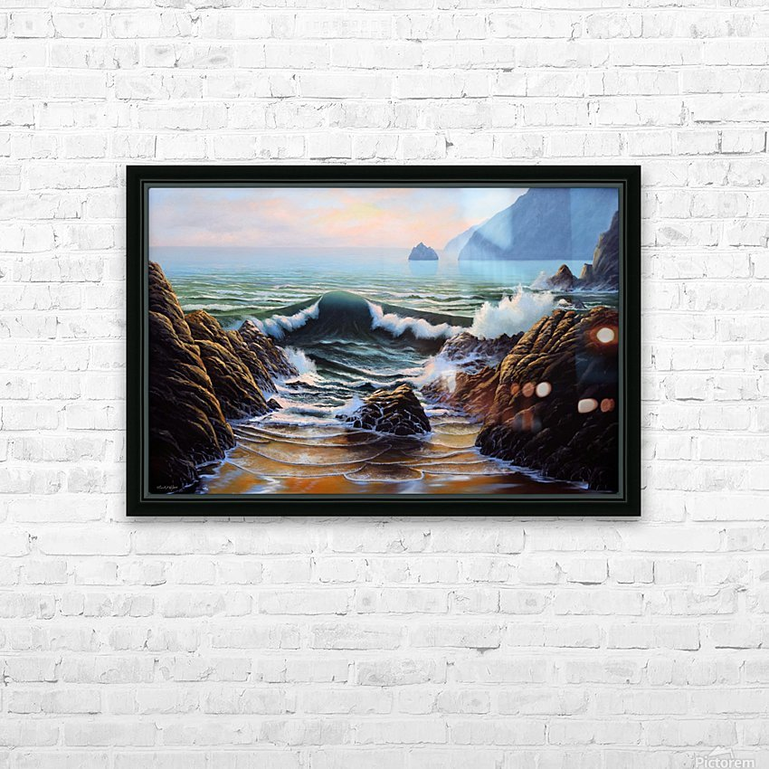 Dancing Tide HD Sublimation Metal print with Decorating Float Frame (BOX)