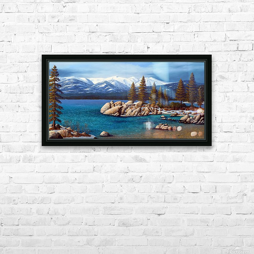 Winter At Sand Harbor Lake Tahoe HD Sublimation Metal print with Decorating Float Frame (BOX)