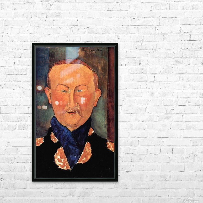 Modigliani - Portrait of Leon Bakst HD Sublimation Metal print with Decorating Float Frame (BOX)