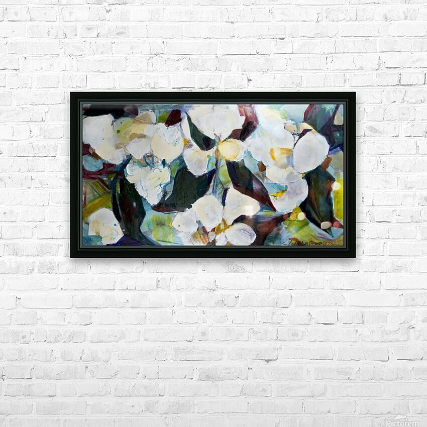 Louisiana Cubist Magnolia HD Sublimation Metal print with Decorating Float Frame (BOX)