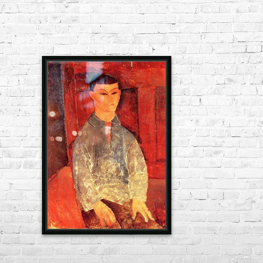 Modigliani - Portrait of Moise Kisling -3- HD Sublimation Metal print with Decorating Float Frame (BOX)