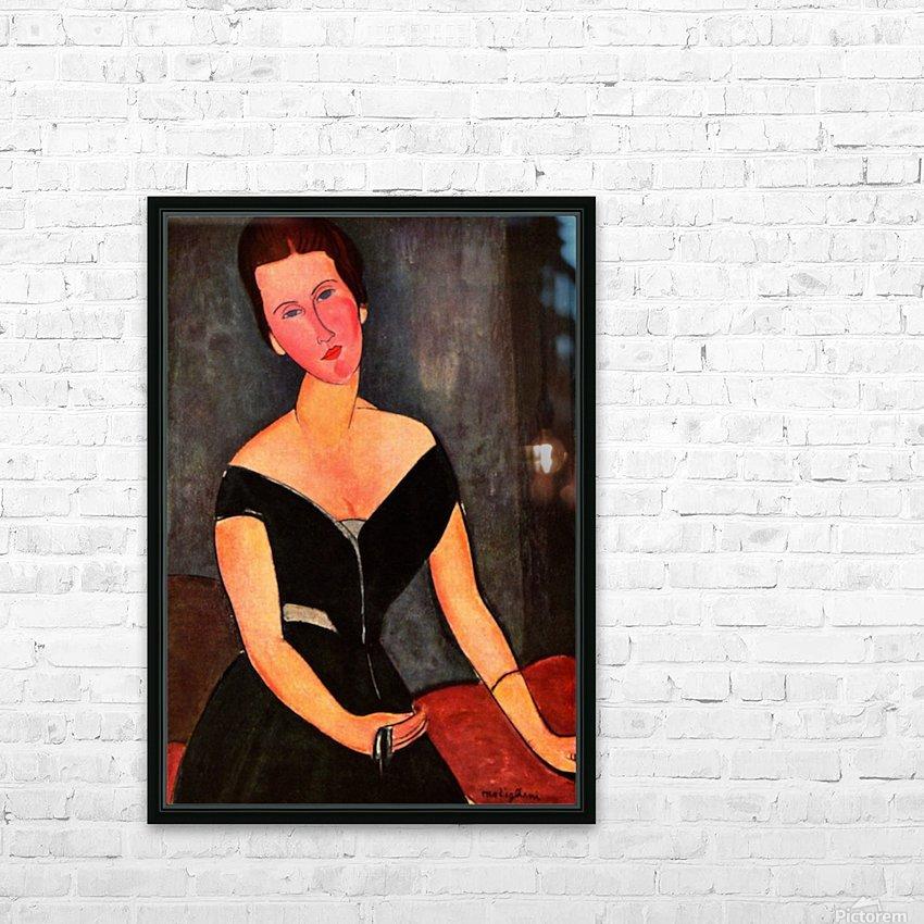 Modigliani - Portrait of Mrs van Muyden HD Sublimation Metal print with Decorating Float Frame (BOX)