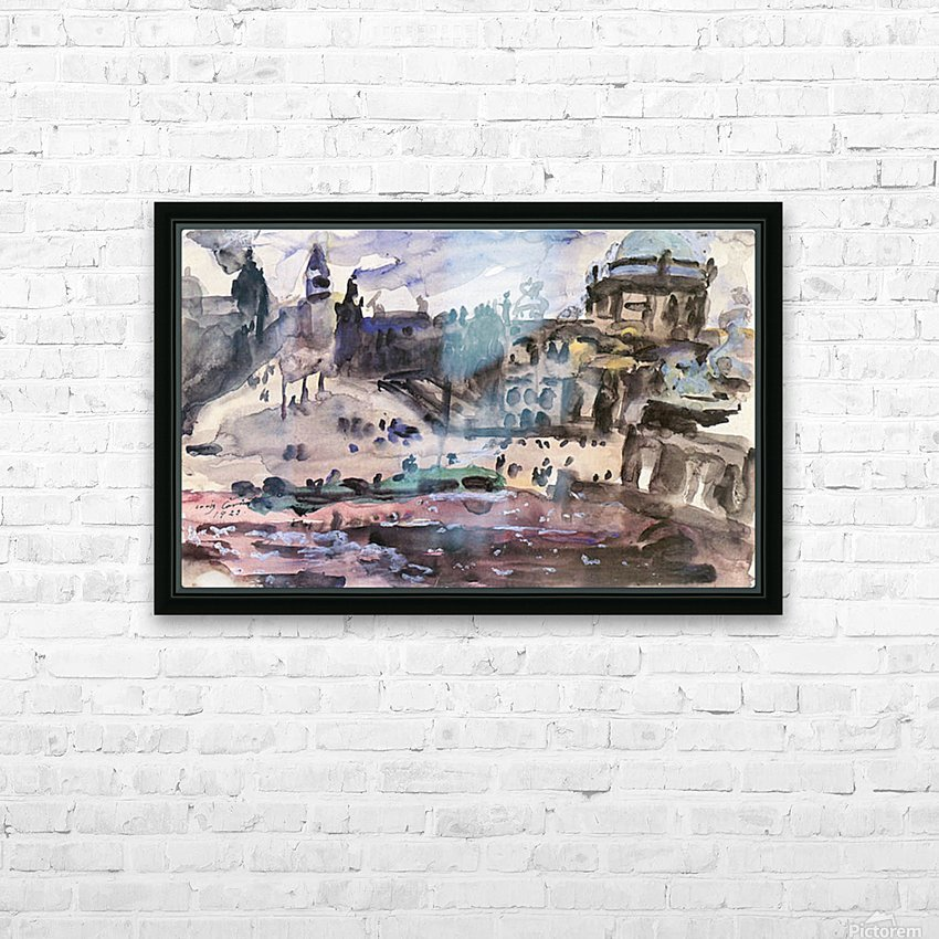 Freedom Castle by Lovis Corinth HD Sublimation Metal print with Decorating Float Frame (BOX)