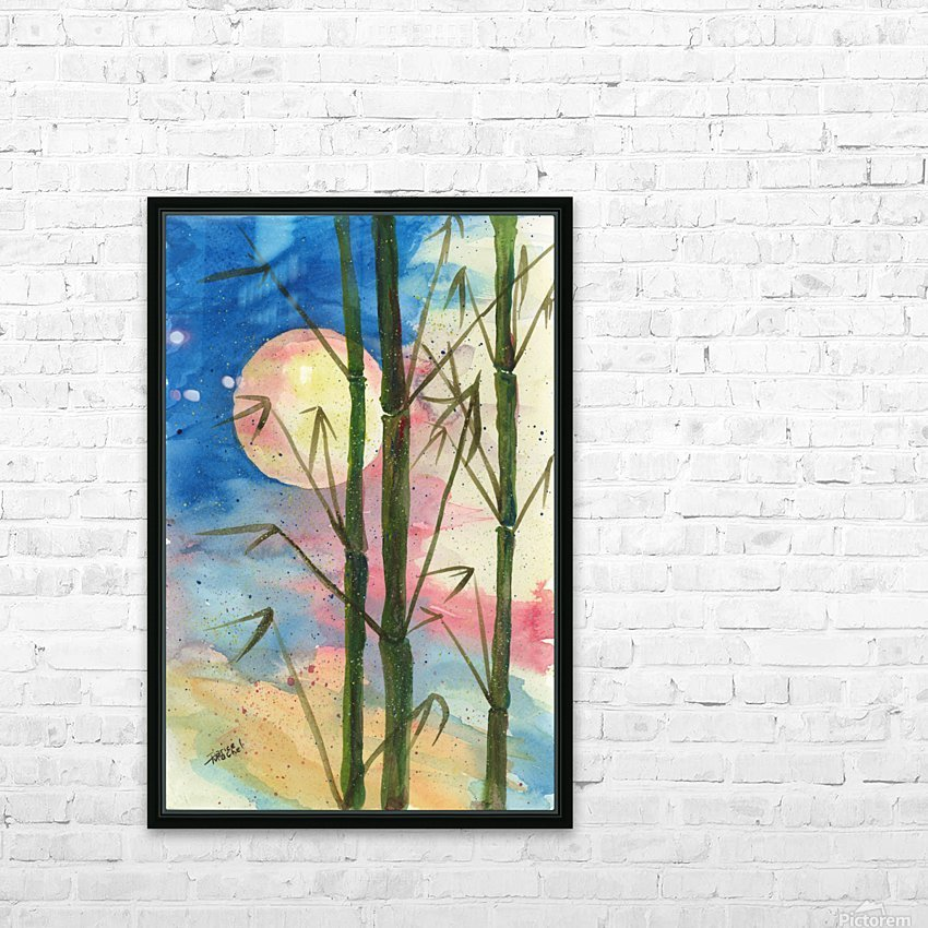 Moonlight Bamboo HD Sublimation Metal print with Decorating Float Frame (BOX)