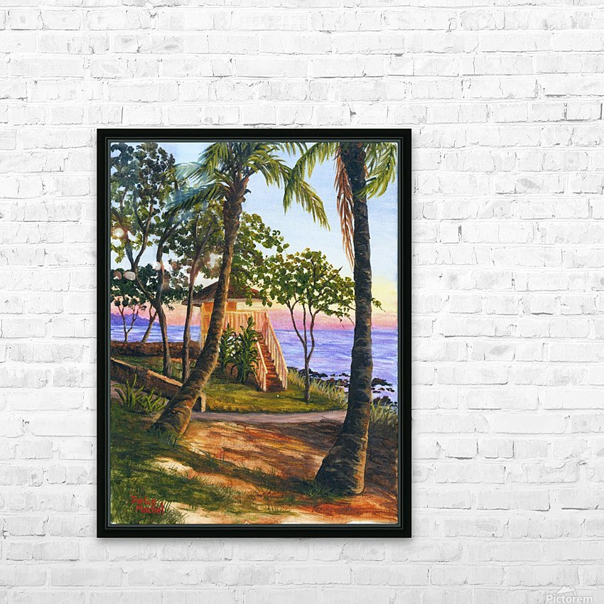 Canoe Beach HD Sublimation Metal print with Decorating Float Frame (BOX)