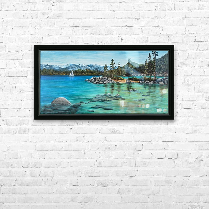 Sand Harbor HD Sublimation Metal print with Decorating Float Frame (BOX)