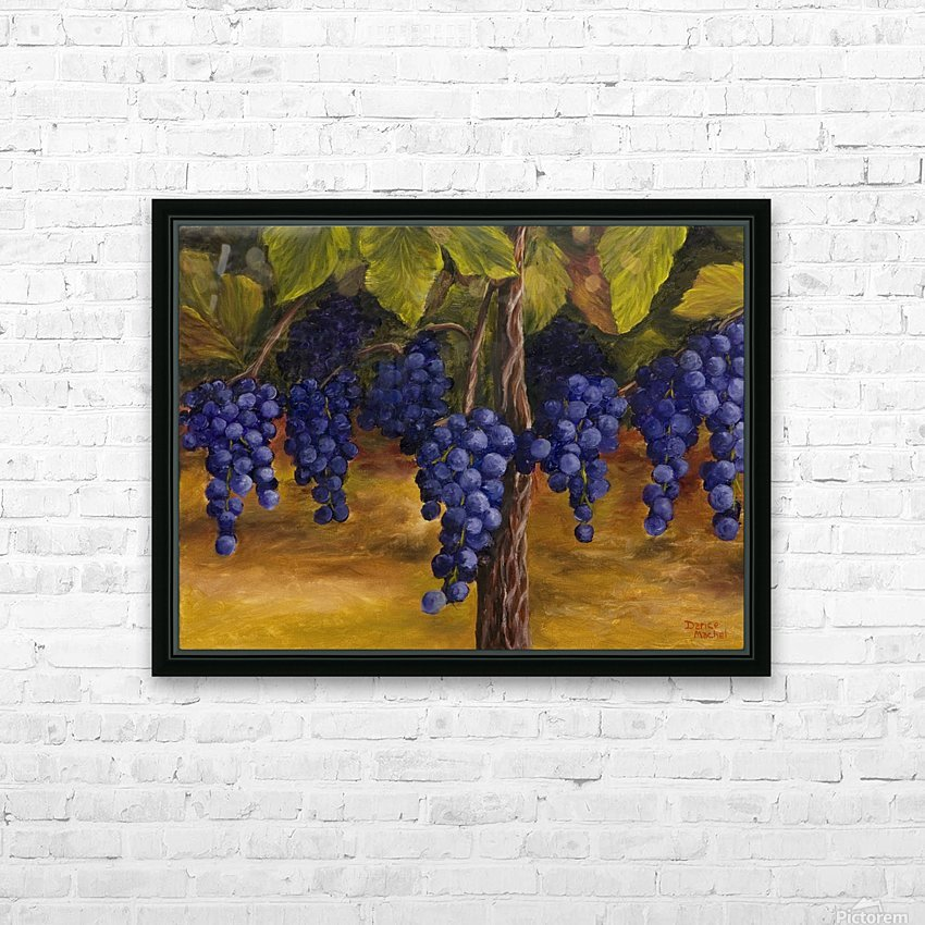On The Vine HD Sublimation Metal print with Decorating Float Frame (BOX)