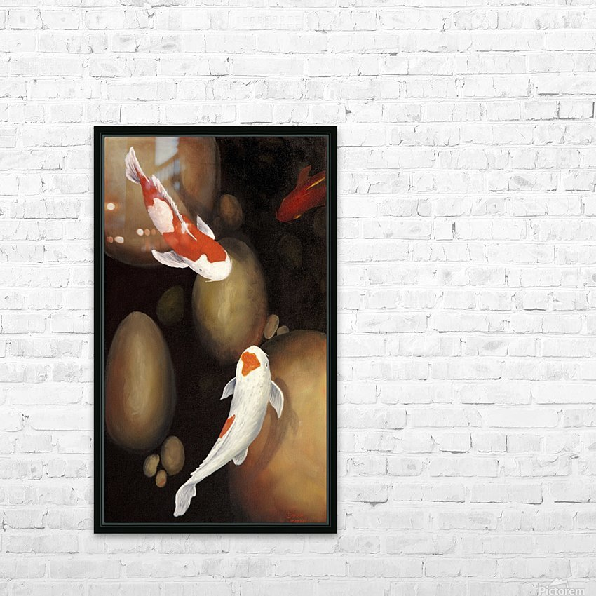 Koi HD Sublimation Metal print with Decorating Float Frame (BOX)