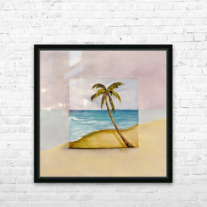 Swaying Palm HD Sublimation Metal print with Decorating Float Frame (BOX)