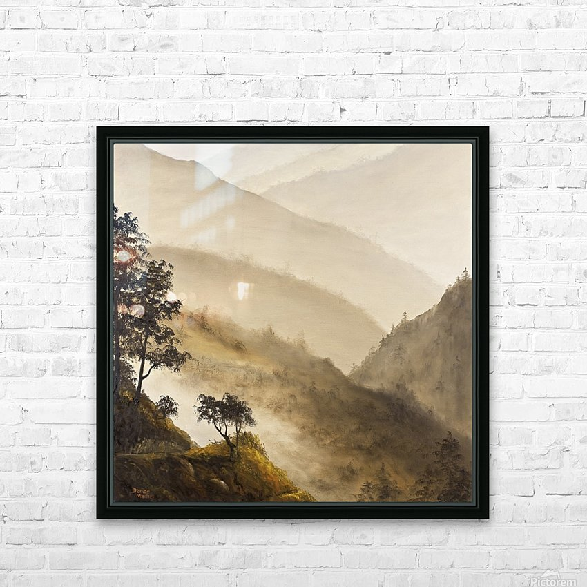 Misty Hills HD Sublimation Metal print with Decorating Float Frame (BOX)