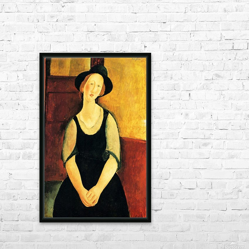 Modigliani - Portrait of Thora Klinckowstroem HD Sublimation Metal print with Decorating Float Frame (BOX)