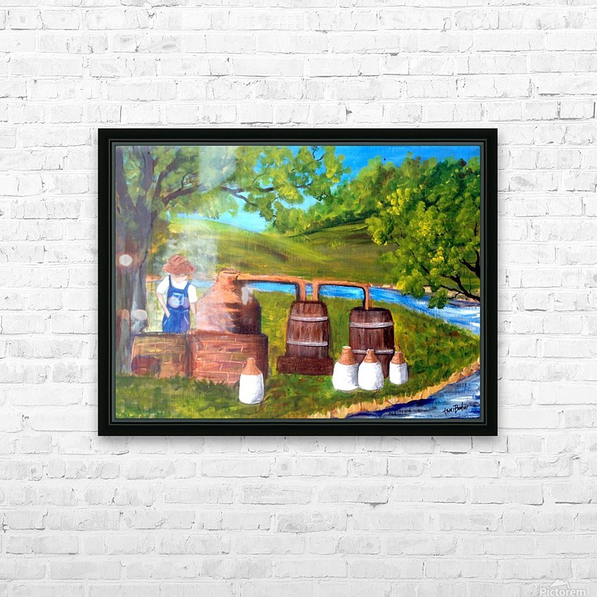 moonshiner HD Sublimation Metal print with Decorating Float Frame (BOX)