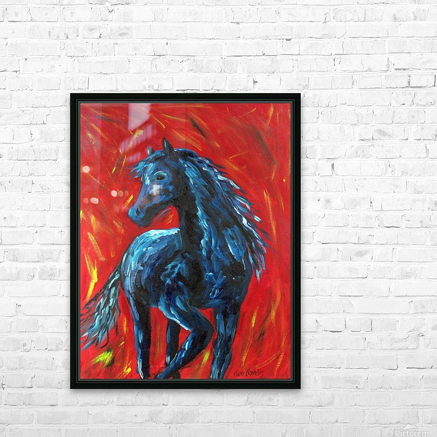 red horse HD Sublimation Metal print with Decorating Float Frame (BOX)