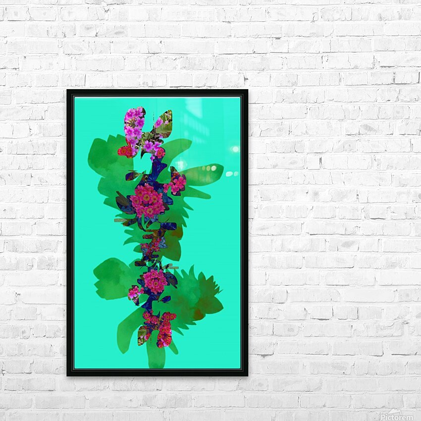 Floral Collage HD Sublimation Metal print with Decorating Float Frame (BOX)