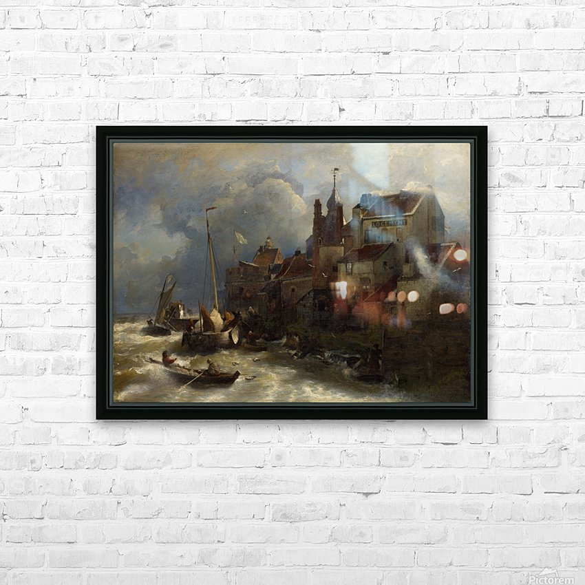 Coastal scene HD Sublimation Metal print with Decorating Float Frame (BOX)