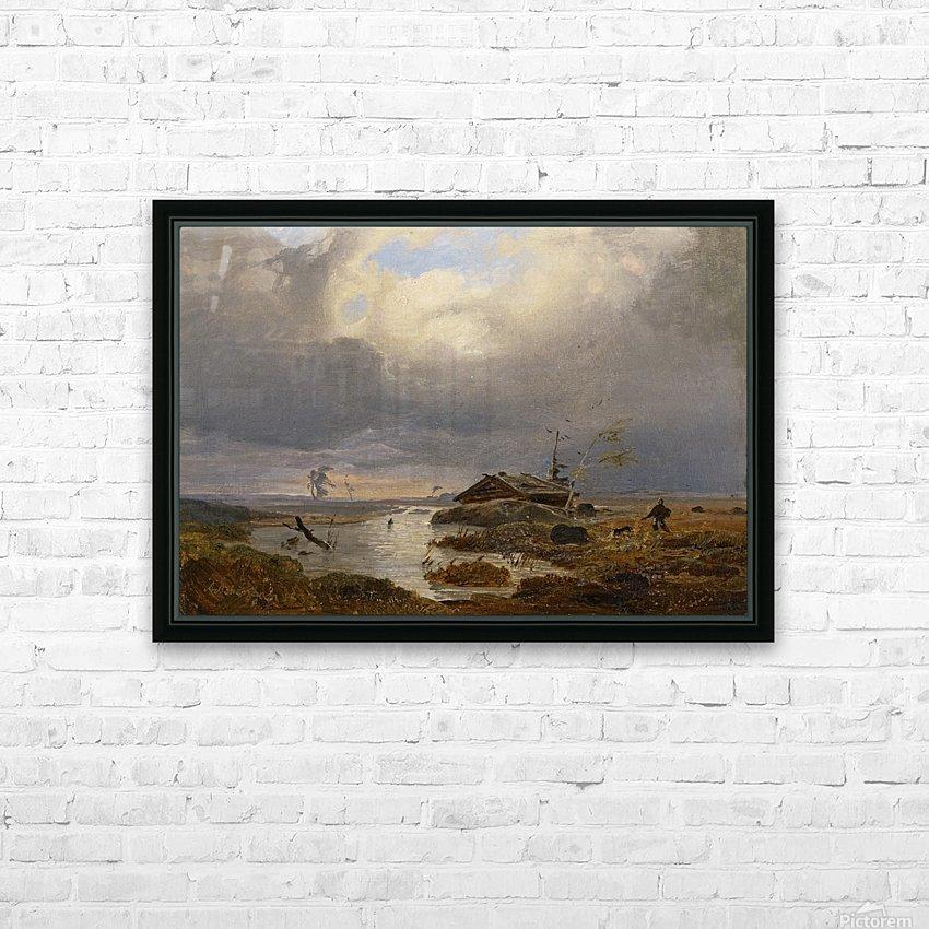 Skandinavische Landschaft HD Sublimation Metal print with Decorating Float Frame (BOX)