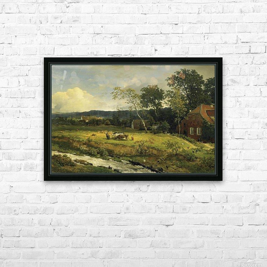 Landschaft in Hessen HD Sublimation Metal print with Decorating Float Frame (BOX)