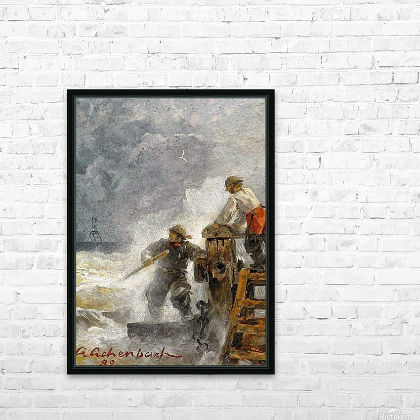 Stormy North Sea HD Sublimation Metal print with Decorating Float Frame (BOX)