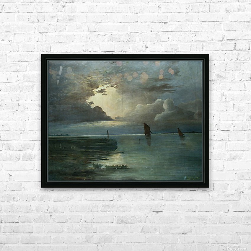 Sonnenuntergang am Meer HD Sublimation Metal print with Decorating Float Frame (BOX)