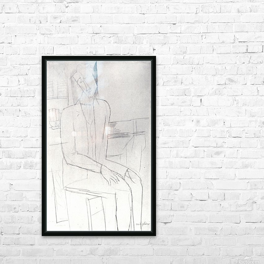 Modigliani - Sitting man HD Sublimation Metal print with Decorating Float Frame (BOX)