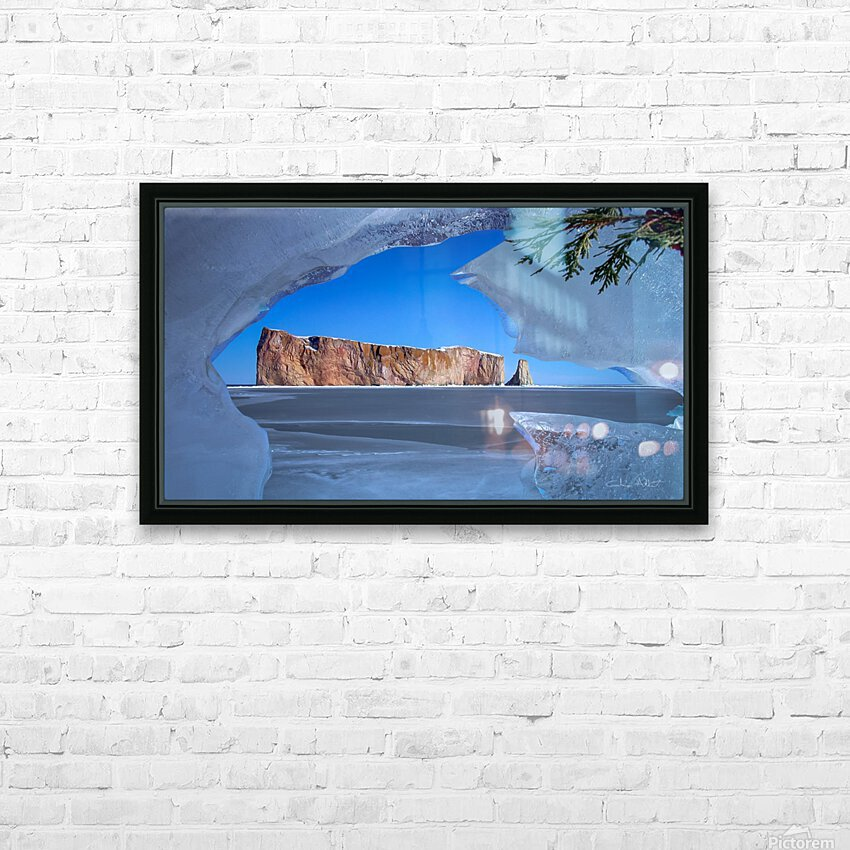 Rocher Perce sous glace HD Sublimation Metal print with Decorating Float Frame (BOX)