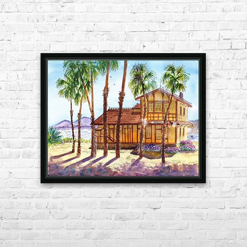 Summer Day Shadows HD Sublimation Metal print with Decorating Float Frame (BOX)