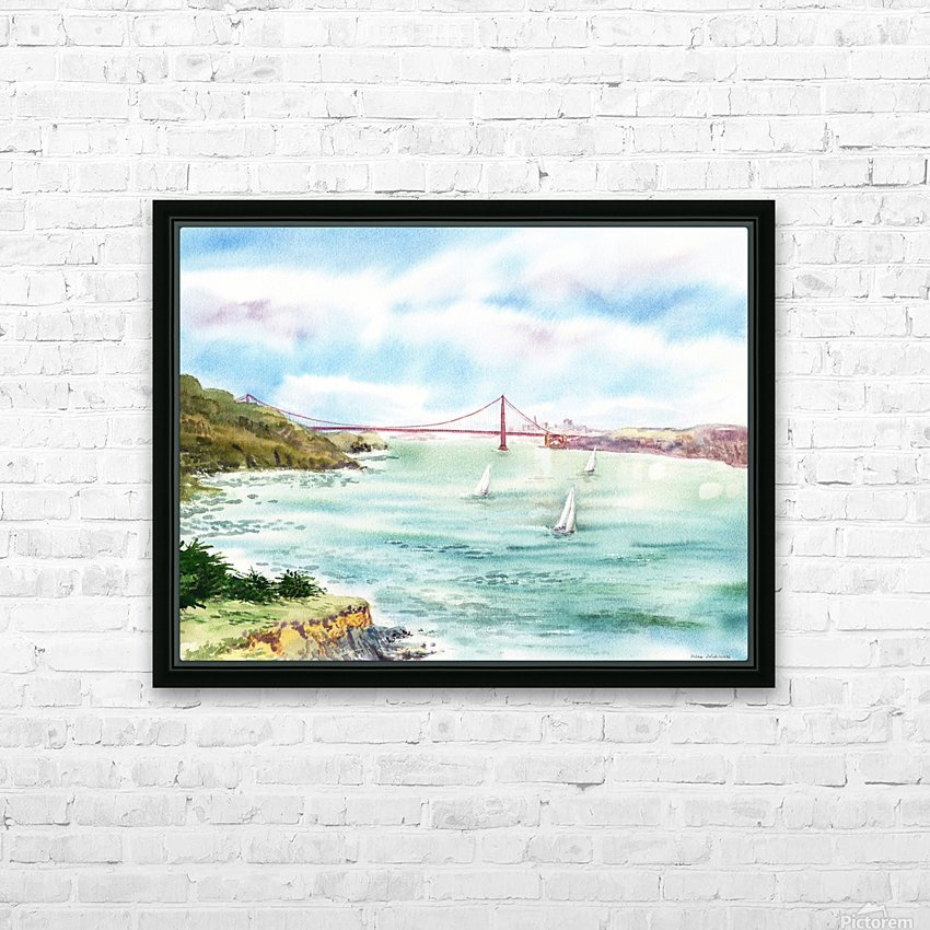 Golden Gate Bridge  HD Sublimation Metal print with Decorating Float Frame (BOX)