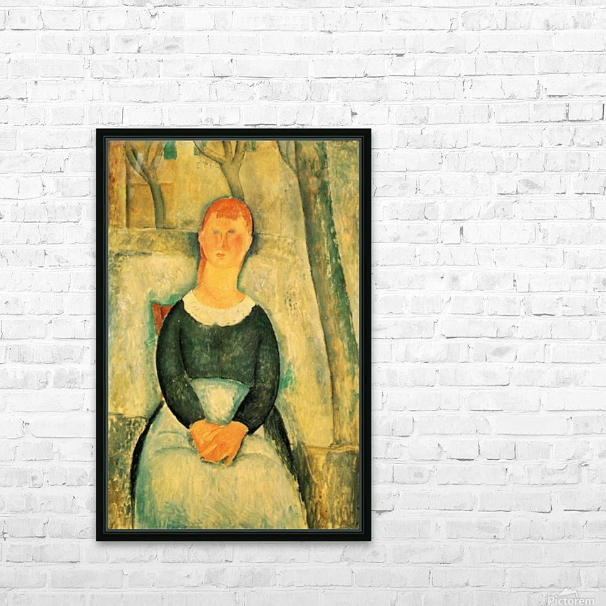 Modigliani - The beautiful merchant HD Sublimation Metal print with Decorating Float Frame (BOX)