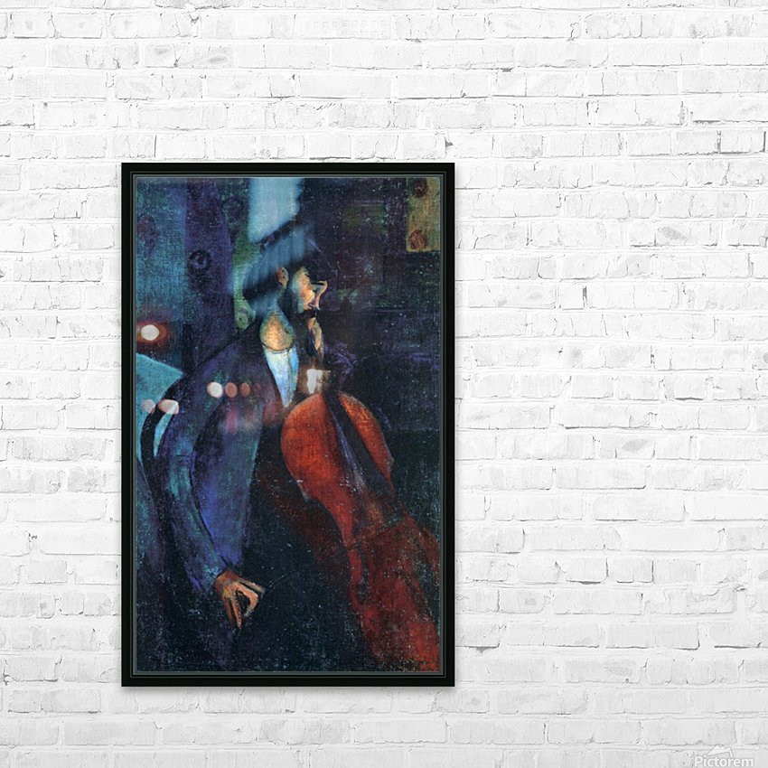 Modigliani - The Cellist HD Sublimation Metal print with Decorating Float Frame (BOX)