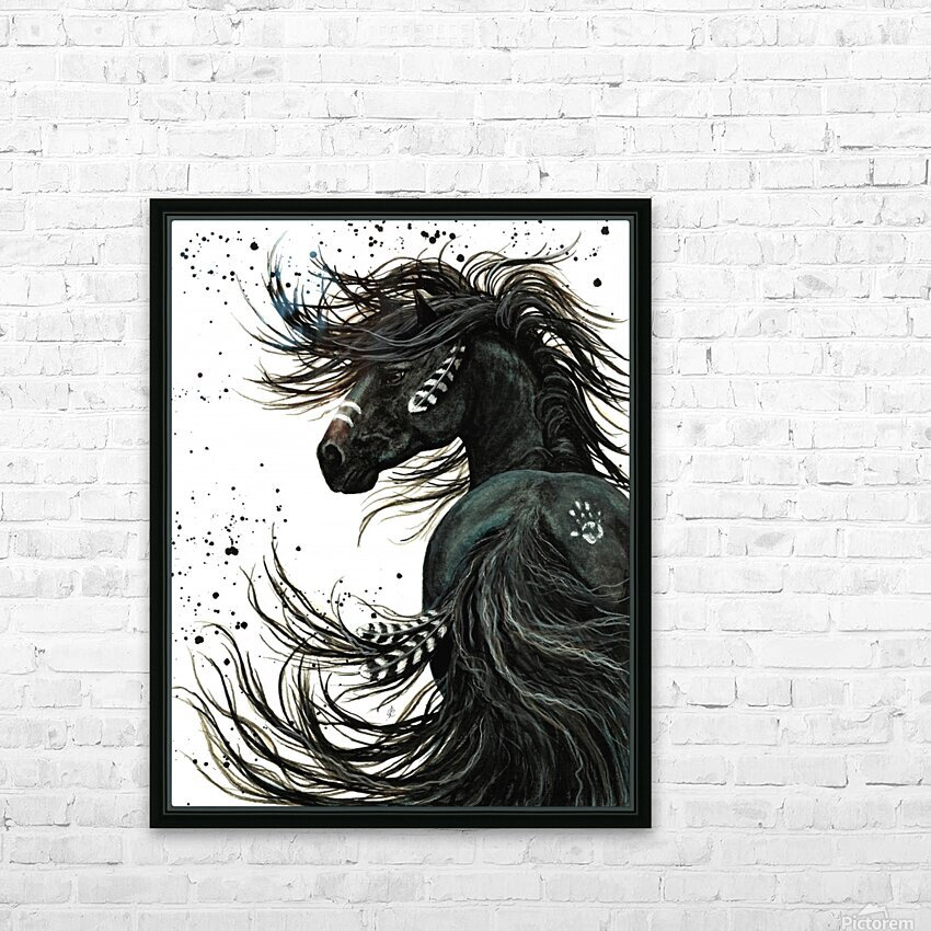 Spirit Horse  HD Sublimation Metal print with Decorating Float Frame (BOX)