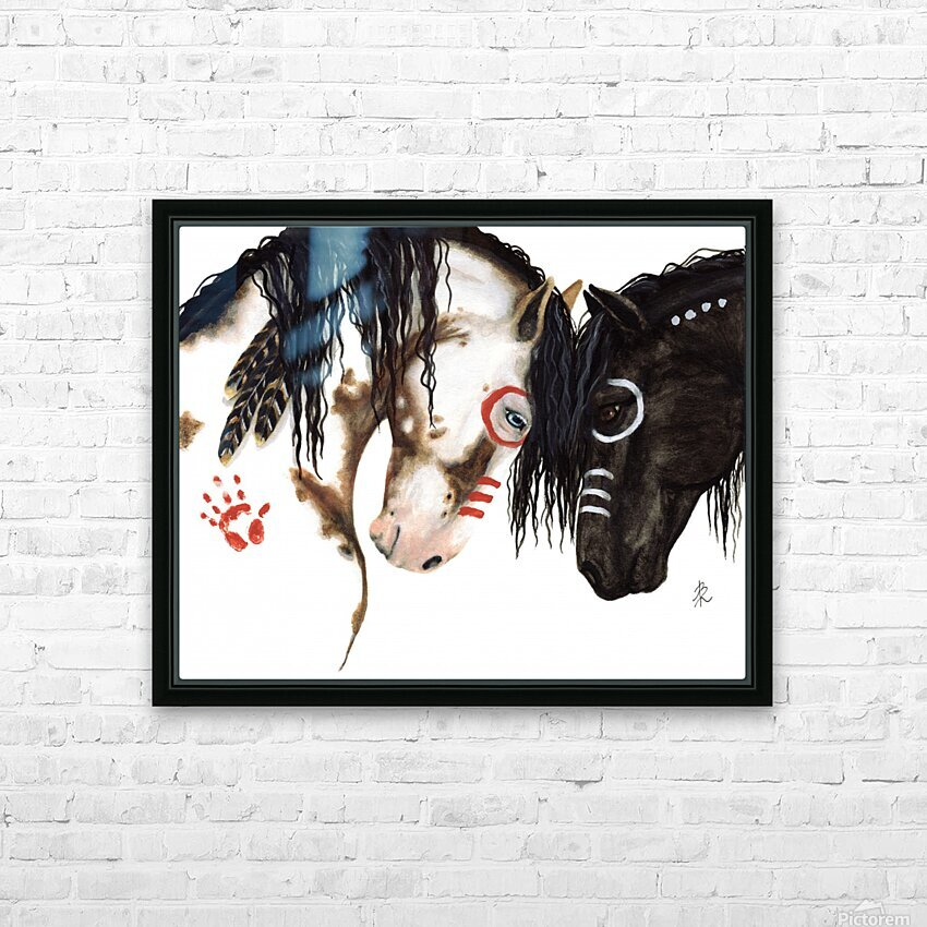 Majestic Spirit Horses HD Sublimation Metal print with Decorating Float Frame (BOX)