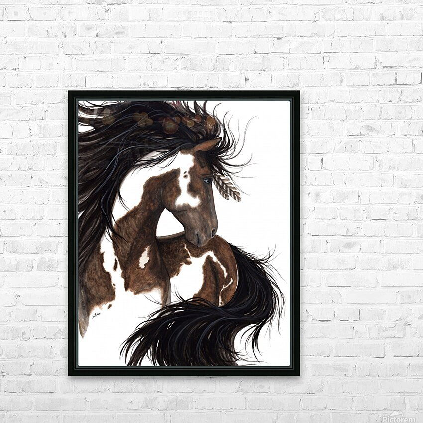 Pinto Horse HD Sublimation Metal print with Decorating Float Frame (BOX)