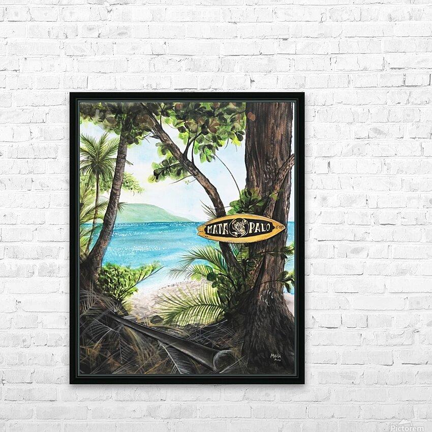 Collection COSTA RICA-Matapalo HD sublimation métal imprimé avec décoration flotteur cadre (boîte)