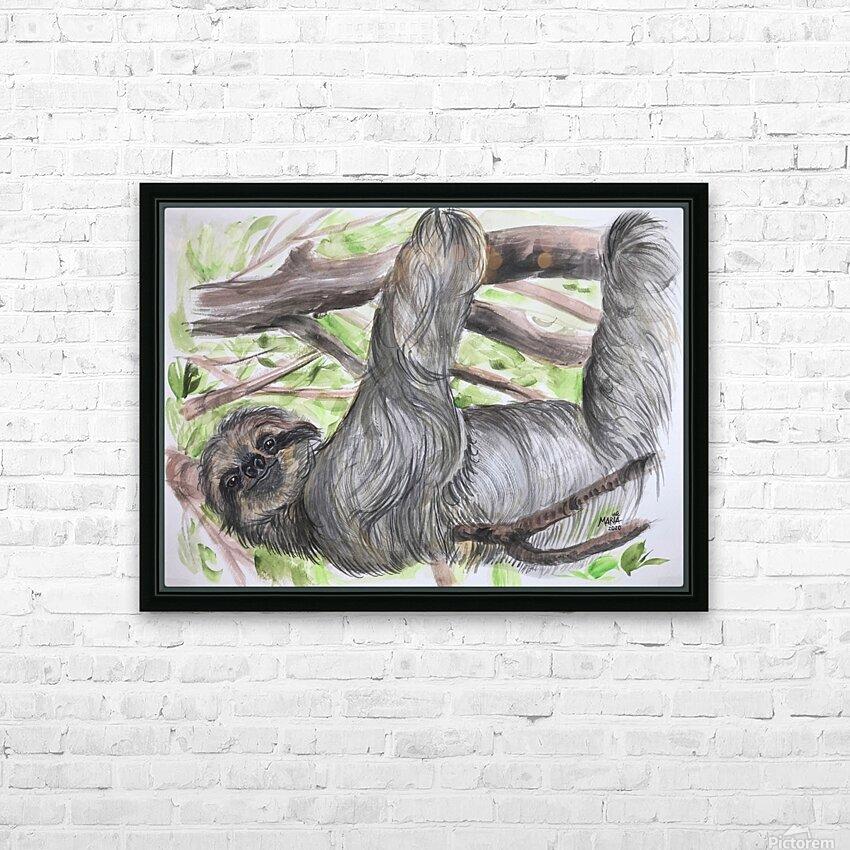 Collection COSTA RICA-Sloth HD sublimation métal imprimé avec décoration flotteur cadre (boîte)