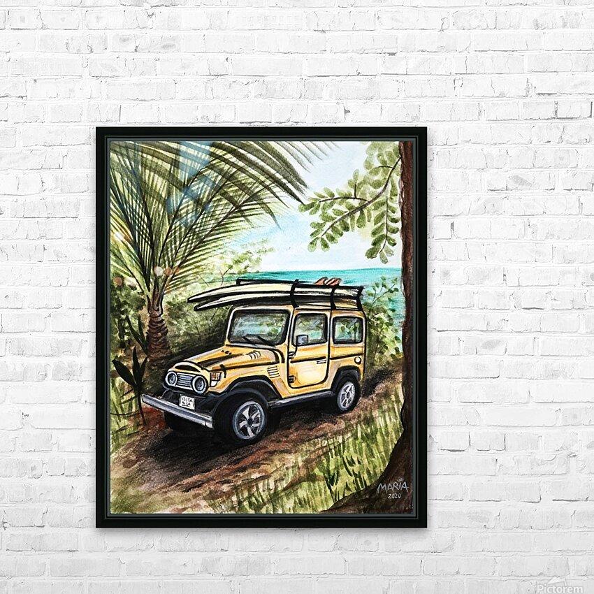 Collection COSTA RICA-Jeep HD sublimation métal imprimé avec décoration flotteur cadre (boîte)