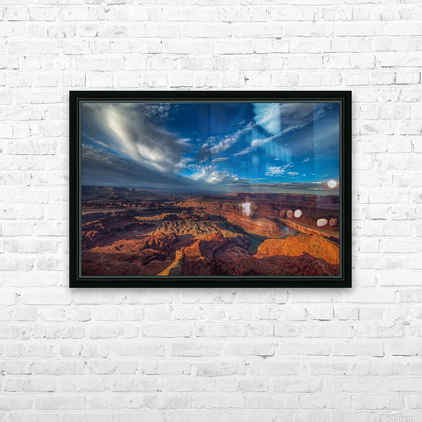 SUNRISE OVER DEAD HORSE CANYON-UTAH-6 HD Sublimation Metal print with Decorating Float Frame (BOX)