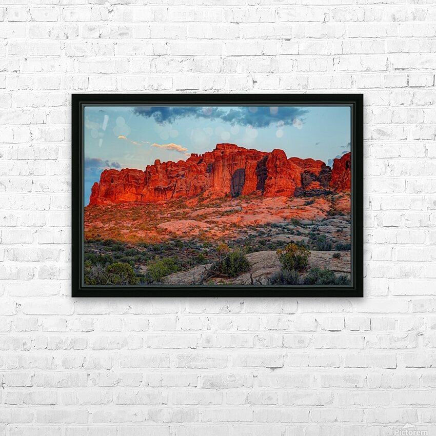 THE MAGIC OF SUNSET IN UTAH HD Sublimation Metal print with Decorating Float Frame (BOX)
