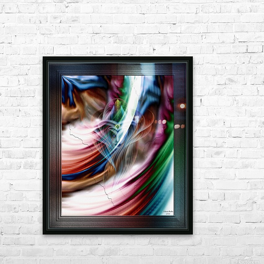 Whispers In A Dreams Of Beauty Fractal Abstract Portrait Art HD Sublimation Metal print with Decorating Float Frame (BOX)
