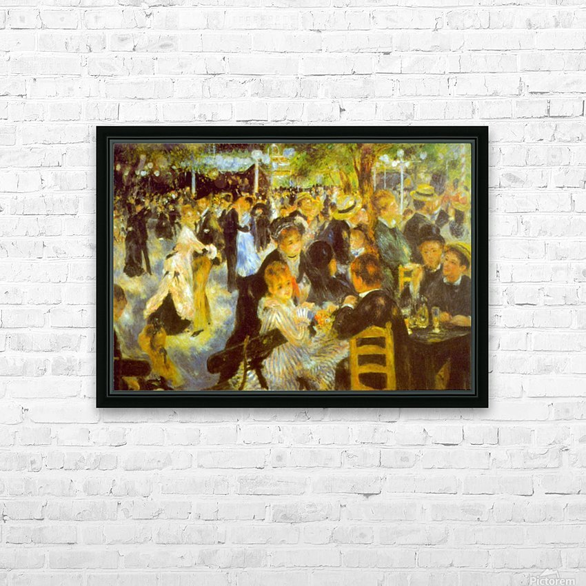 Moulin Galette by Renoir HD Sublimation Metal print with Decorating Float Frame (BOX)