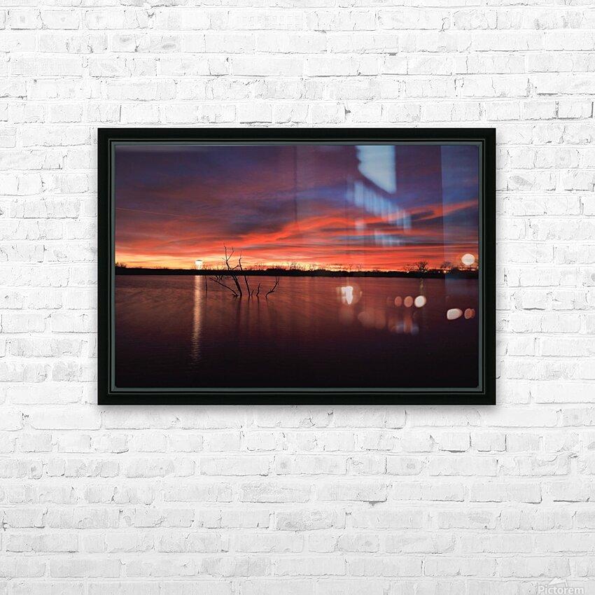 Wellington City Lake Sunset HD Sublimation Metal print with Decorating Float Frame (BOX)