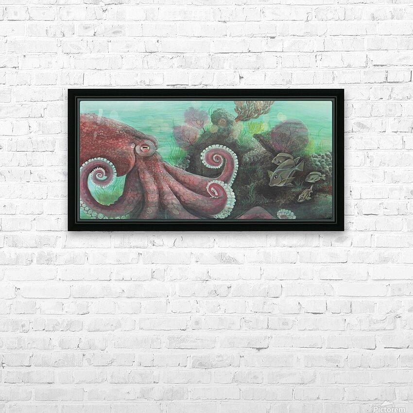 Collection WAVES-Octopus HD sublimation métal imprimé avec décoration flotteur cadre (boîte)