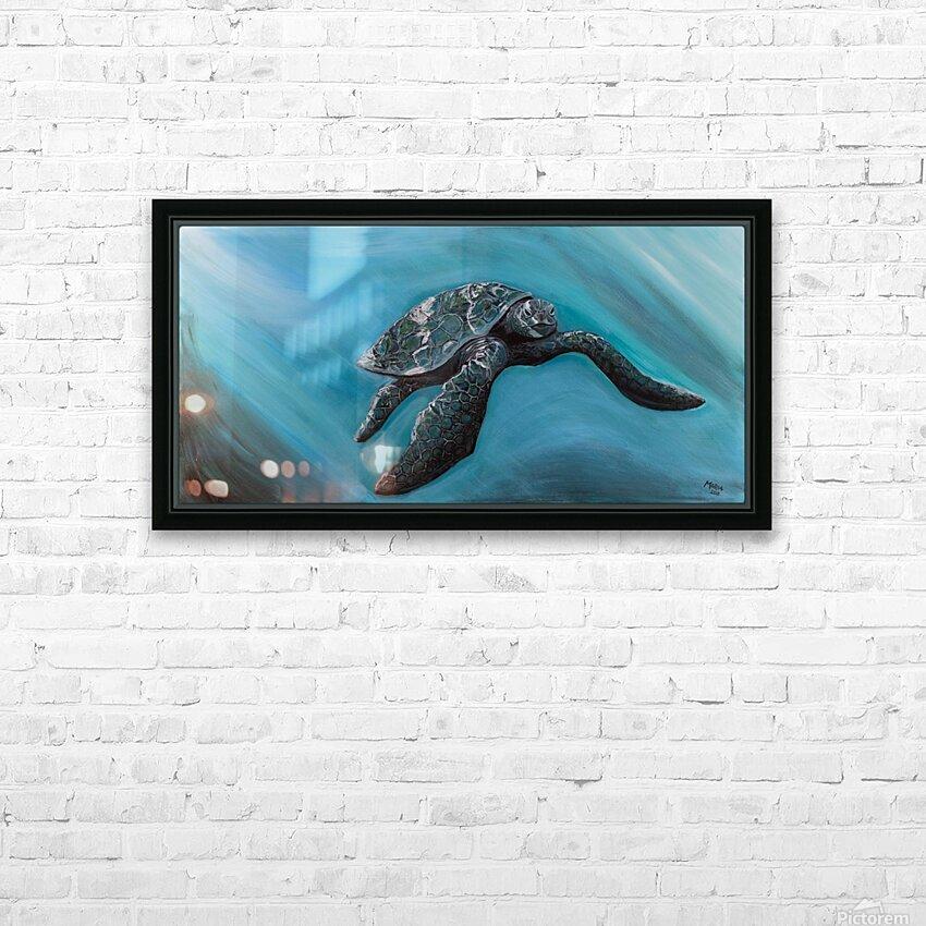 Collection WAVES-Turtle HD sublimation métal imprimé avec décoration flotteur cadre (boîte)