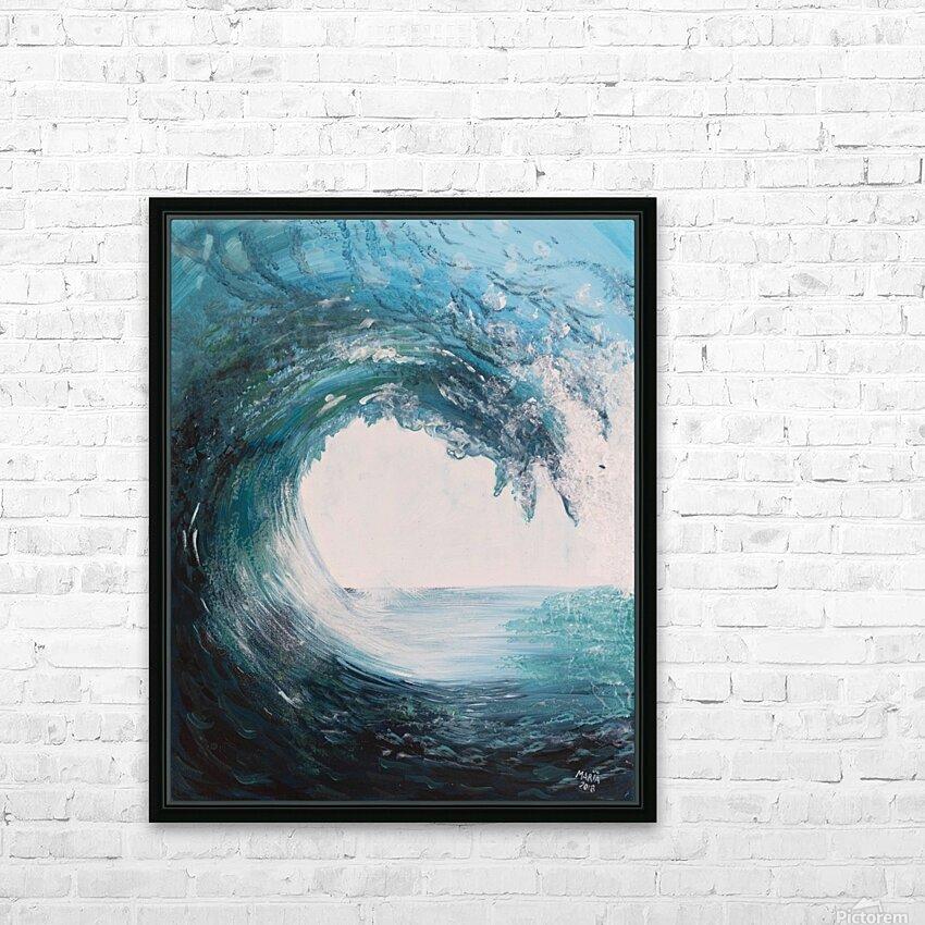 Collection WAVES-Swell HD sublimation métal imprimé avec décoration flotteur cadre (boîte)